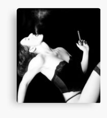Smoke & Seduction - Self Portrait Canvas Print