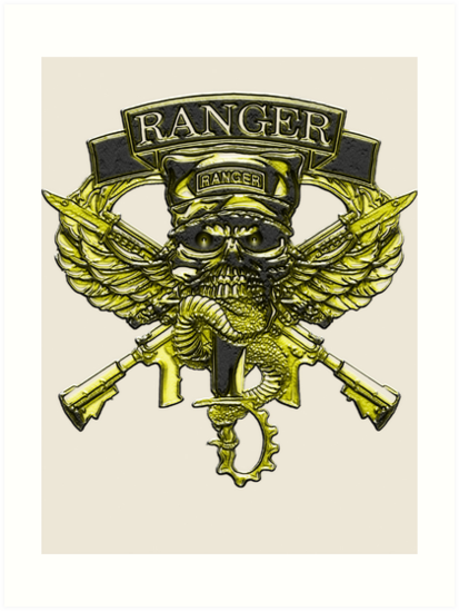 Us Army Ranger Placard Art Prints By Walter Colvin Redbubble