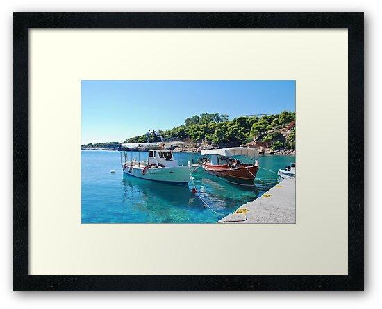 Rousoum harbour, Alonissos island by David Fowler