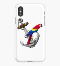Parrot And Ship Anchor iPhone Case