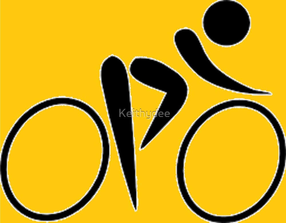 Cyclist Yellow. by Keithydee