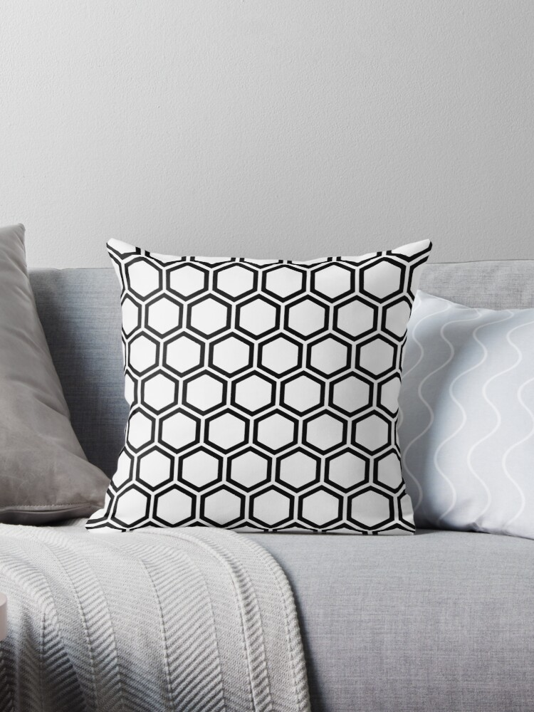 Honeycomb seamless pattern in Black and White by MyArt23