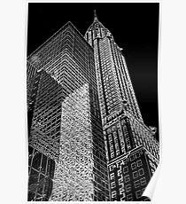 Chrysler Building Outline Poster