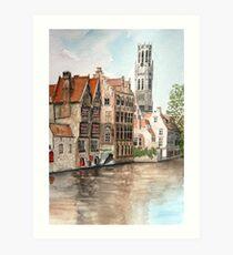 """Venice of the North"" - Bruges, Belgium Art Print"
