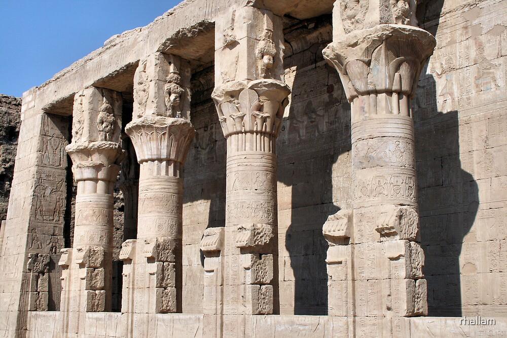 Columns at Edfu Temple 2 by rhallam
