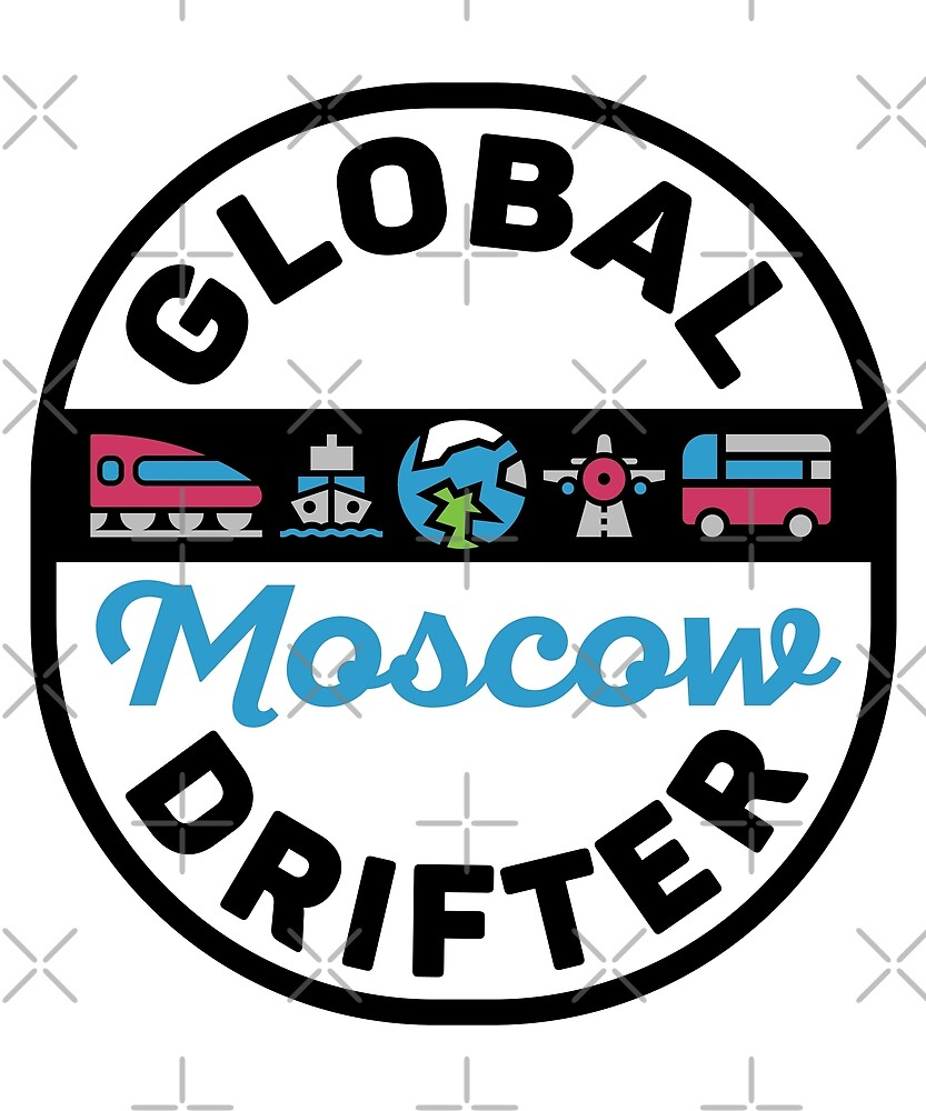 Moscow Russia Global Drifter Travel by designkitsch