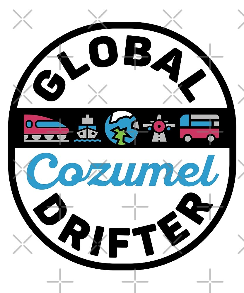 Cozumel Mexico Global Drifter Travel by designkitsch