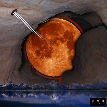 Moon on Mountains by umarshamir