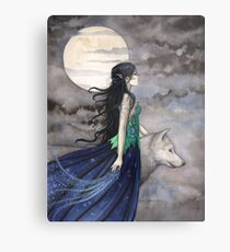 """Night of the Wolf"" Gothic Fantasy Art by Molly Harrison Metallbild"