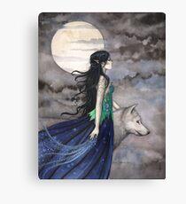 """Lienzo """"La noche del lobo"""" Gothic Fantasy Art de Molly Harrison"""