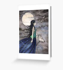 Samhain greeting cards redbubble night of the wolf gothic fantasy art by molly harrison greeting card m4hsunfo