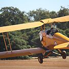 DH37 Tiger Moth Take Off by Stephen Horton