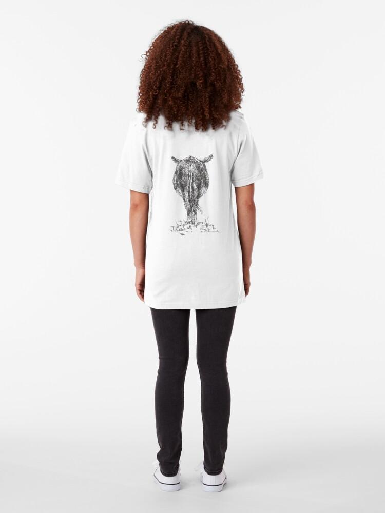 Alternate view of Cautious Ass Slim Fit T-Shirt