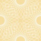 mathematical rotating roses - powder yellow by VrijFormaat