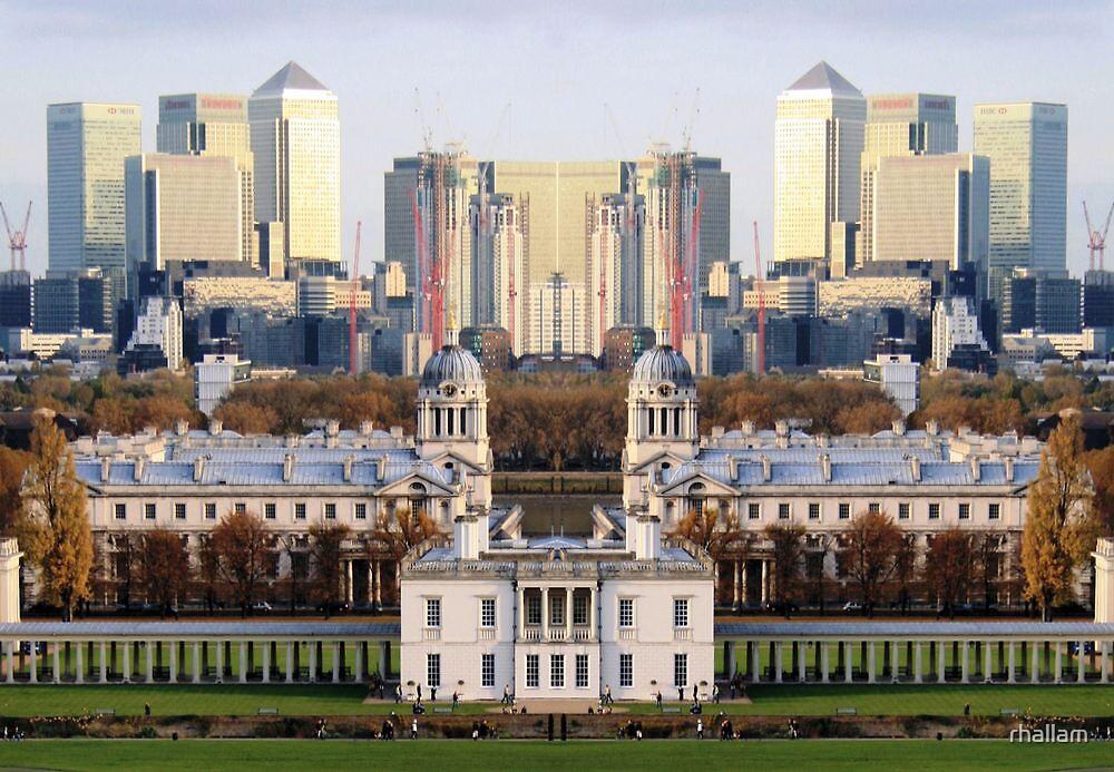London Docklands reflection by rhallam