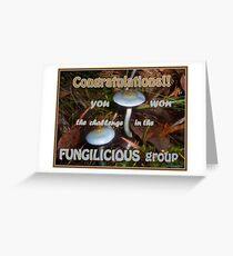Fungilicious Banner Greeting Card