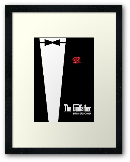 The Godfather - minimal movie poster by HDMI2K