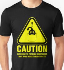 Suu Hazard Sign (English version, for dark backgrounds) Unisex T-Shirt