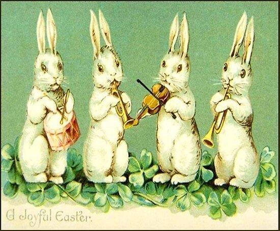 Vintage musikalische Osterhasen von BlackStarGirl