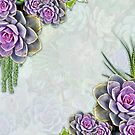 Succulent Sea Green, Lavender Tone Bouquets  by NadineMay
