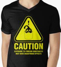 Suu Hazard Sign, Mischievous Version (English text, for dark backgrounds) V-Neck T-Shirt