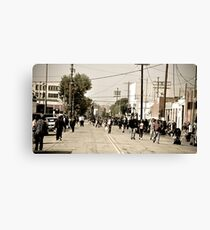 """ Another Skid Row Sunday "" Canvas Print"