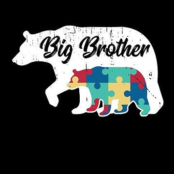 Big Brother Bear- Autism Awareness Design by dk80