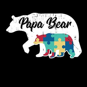 Papa Bear - Autism Awareness Design by dk80