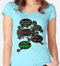 Loud music ticket cartoon Women's Fitted Scoop T-Shirt