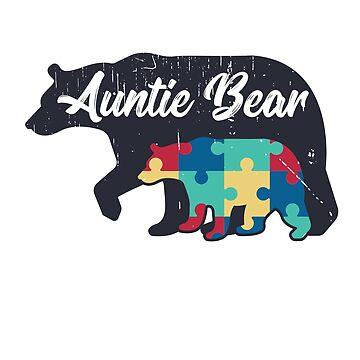 Auntie Bear - Autism Awareness Design by dk80