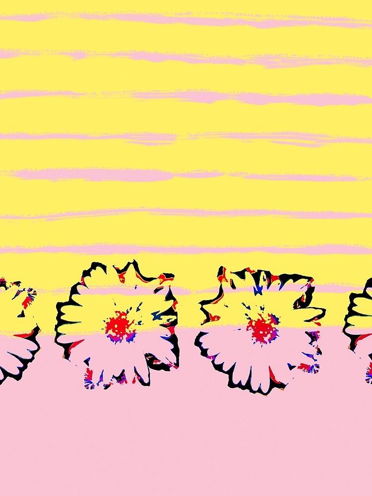 Streifen und transparente Frühling Blumen von RanitasArt