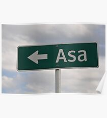 Asa's Sign Poster