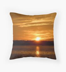 Sunset over Hilton Head Throw Pillow