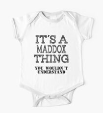 Its A MADDOX Thing Funny Cute Gift T Shirt Family Reunion Party Matching One Piece - Short Sleeve