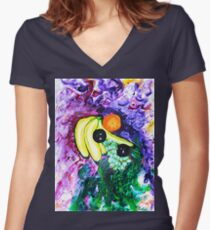 Mixed Fruit Women's Fitted V-Neck T-Shirt