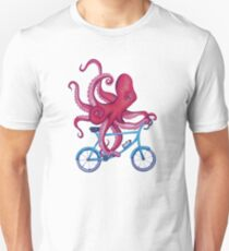 Radfahren Octopus Slim Fit T-Shirt