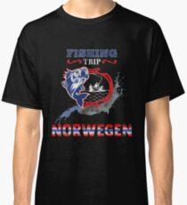 Norwegen Angler Design Fishing Trip Classic T-Shirt