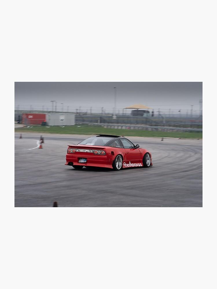 Nissan S13 240sx Drift Car Photographic Print By Keepsleeping