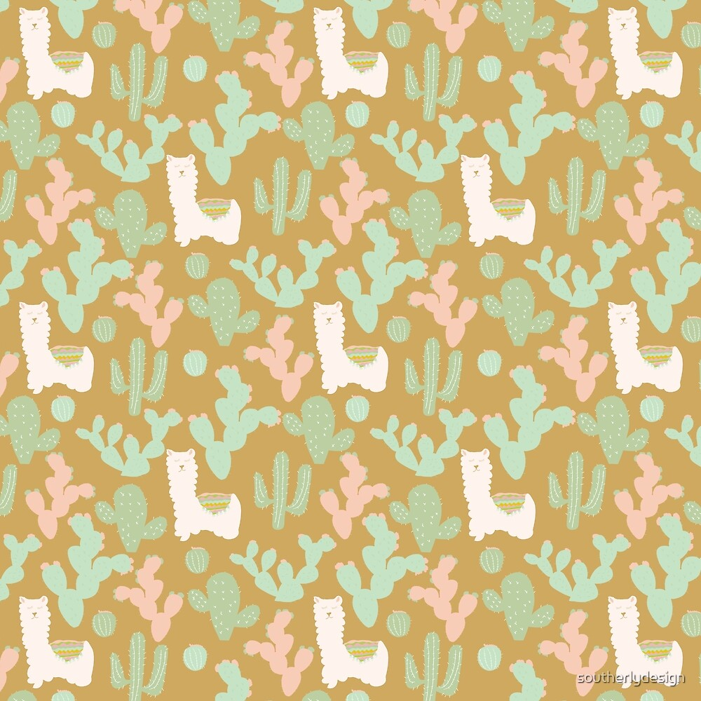 Western Llamas by southerlydesign