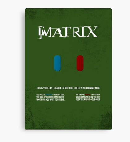 Matrix - minimal movie poster Canvas Print