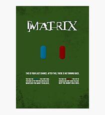 Matrix - minimal movie poster Photographic Print