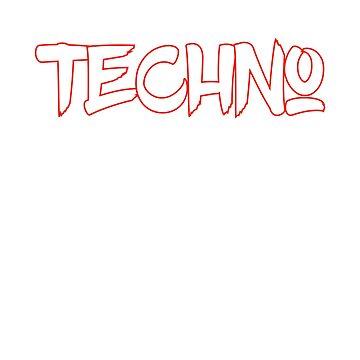 TECHNO Fighter   Rave Party Music DJ Gift by DrokkWarez
