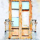 Window and balcony with broken railing by Giuseppe Cocco