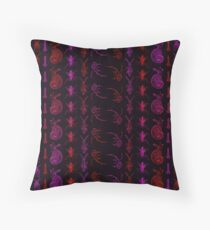 Neon Insect Stripes 2  Throw Pillow