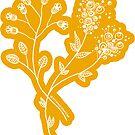 Floral Illustration - March Flower Blooms - MyDoodlesAteMe by mydoodlesateme