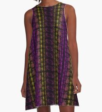 Neon Insect Stripes 3 A-Line Dress