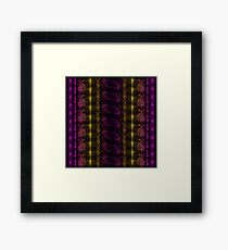 Neon Insect Stripes 3 Framed Print