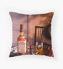 Glass of Bourbon at Sundown. Throw Pillow