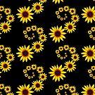 wundervolle Sonnenhut Blumen Wirbel, Spiralen, Muster von rhnaturestyles
