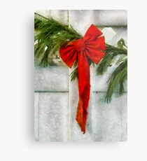 Christmas - Ribbon Metal Print